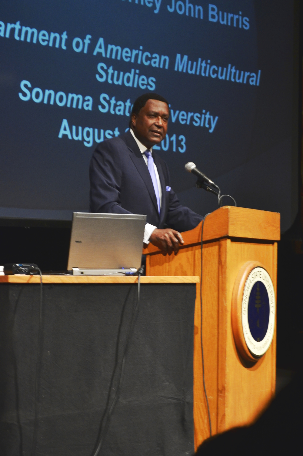 STAR // Lina Raffaelli Civil Rights attorney, John Burris, spoke at SSU about injustices.