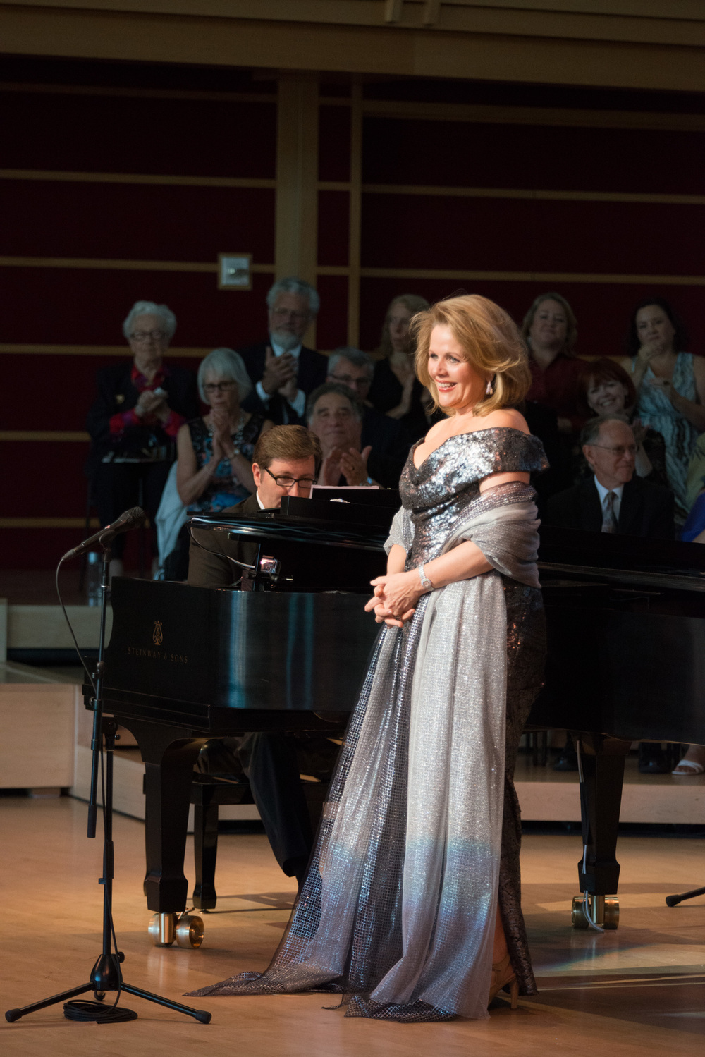 COURTESY // Kristen Loken    Renowned soprano Renée Fleming delighted crowds at the Green Music Center as she helped kickoff the opening to the 2013-2014 MasterCard Performance Series.
