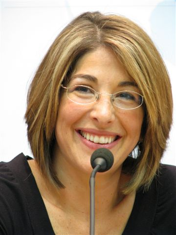 "wikimedia.org   Author and acclaimed columnist Naomi Klein hosted a book signing and lecture on Saturday night in celebration of the release of her new book, ""The Shock Doctrine""."