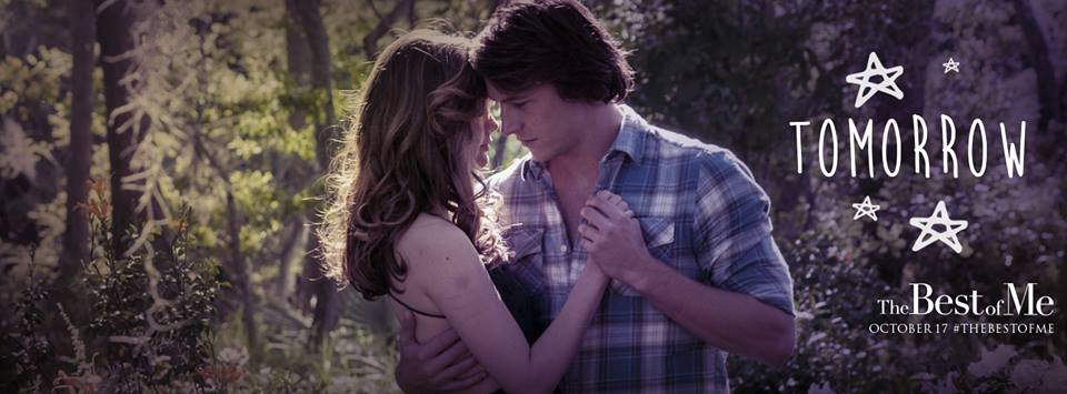 "facebook.com James Marsden and Michelle Monaghan star in ""The Best of Me"" released Friday."