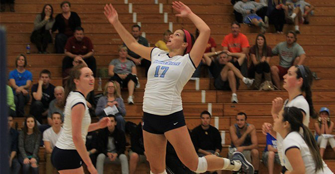 COURTESY // SSU Athletics   Kelsey Hull scored 14 kills against Cal State L.A.