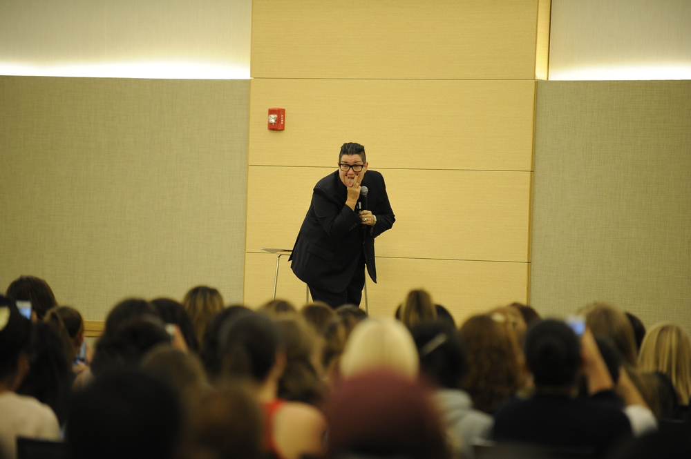"STAR // Connor Gibson Big Boo, comedian and actress from the Netflix series ""Orange is the New Black"", came to campus to not only entertain but to promote the acceptance of LGBT into society."