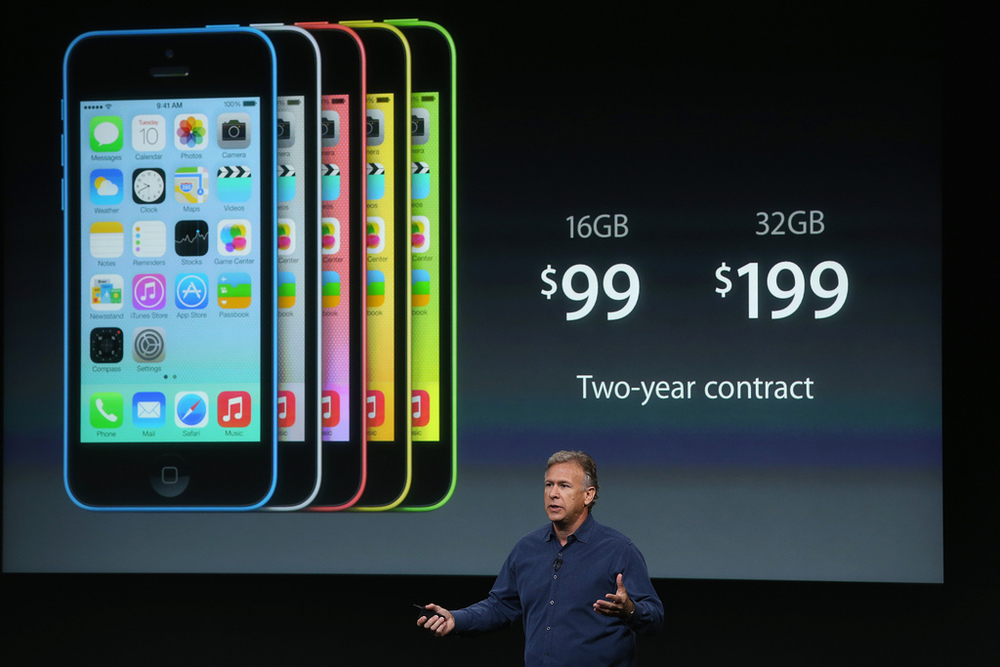 flickr.com Apple Senior Vice President of Worldwide Marketing Phil Schiller speaks about the new iPhone 5C during an Apple product announcement on Sept. 10 in Cupertino.