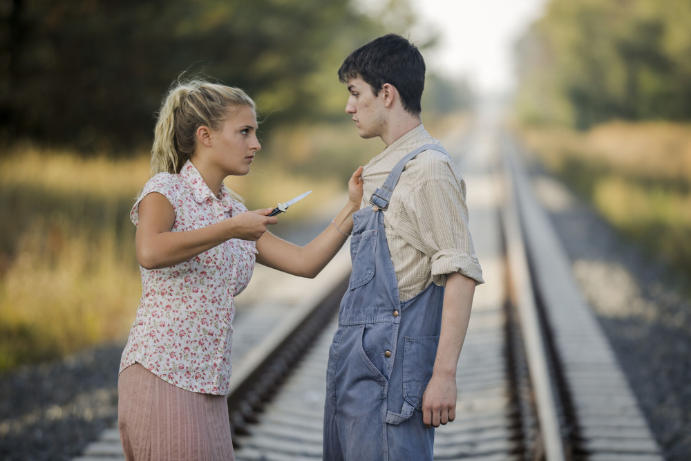 "COURTESY // SSU Theatre Arts and Dance   Student performer Lyla Elmassian stars in the campus production of ""The Trestle at Pope Lick Creek"" with Connor Pratt."