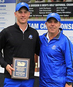 COURTESY // SSU Athletics   Eric Ash, left, won the Sonoma State Invitational this year.