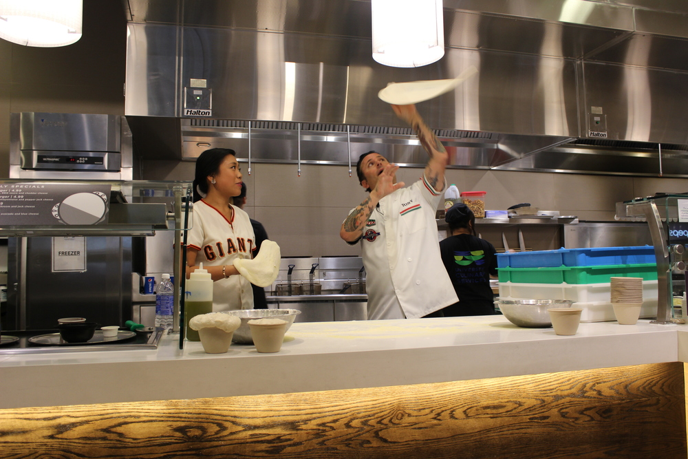 STAR // Edward Goquingco From Tony's North Beach restaurant in the Graton Casino, chef Tony Gemignani shares his pizza knowledge with students.