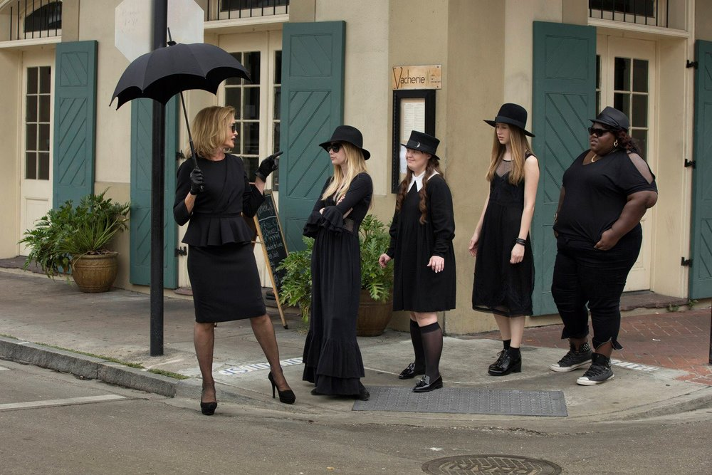 facebook.com Jessica Lange (far left) returns to the third season of the 'American Horror Story' franchise.
