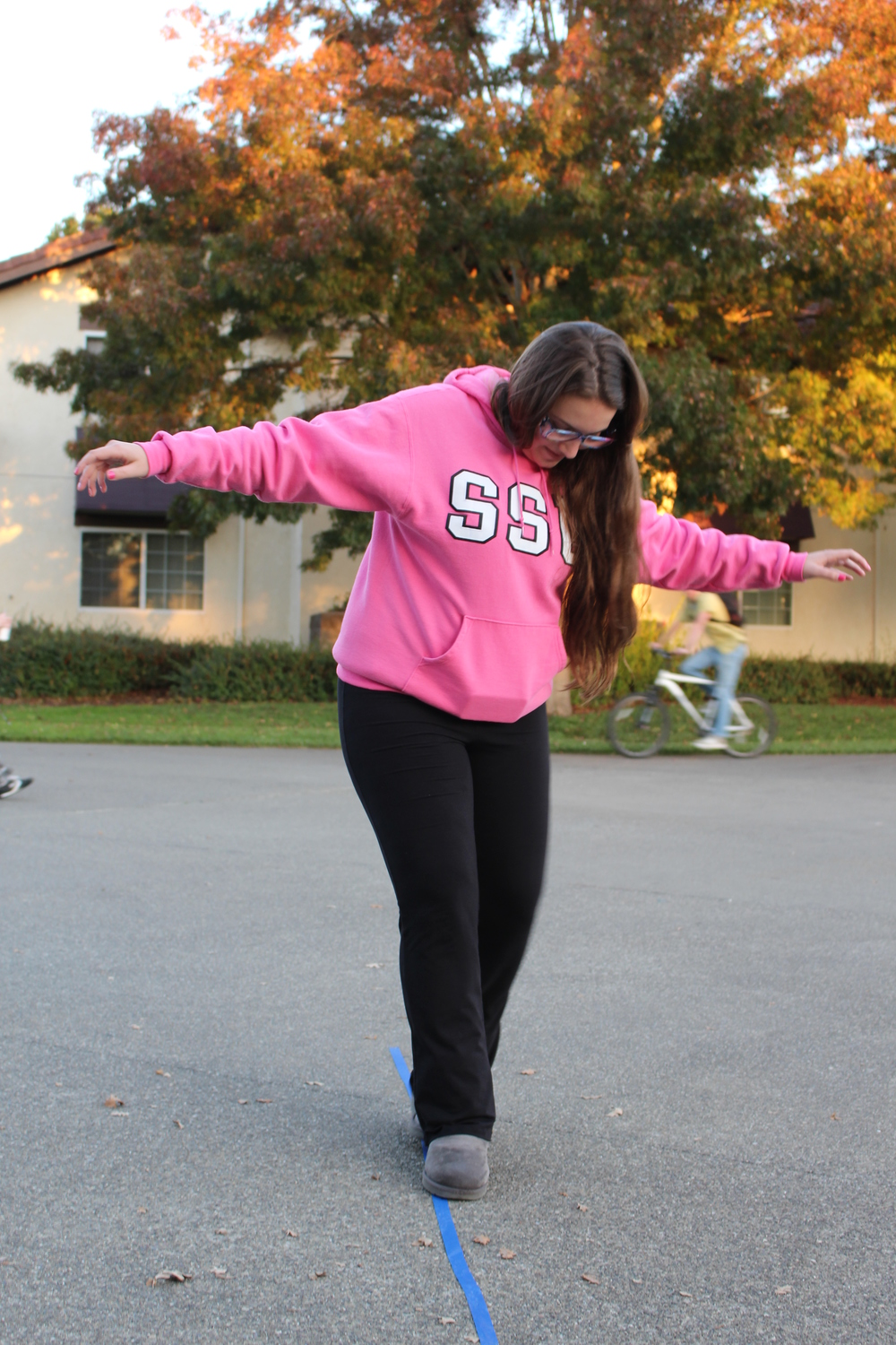 STAR // Spencer Vaishville A student participates in Beer Goggle Olympics.