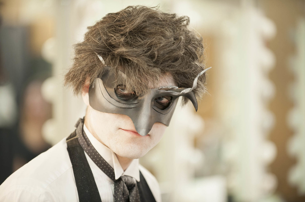 STAR // Connor Gibson Hummel's servant Johansson (Tom Ward) and his menacing black masquerade mask.