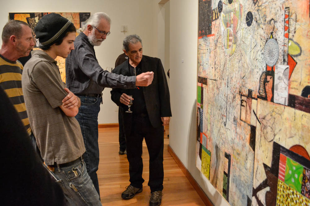 STAR // Lina Raffaelli    Observers examine Perlman's works, trying to decipher their own beautiful meanings.