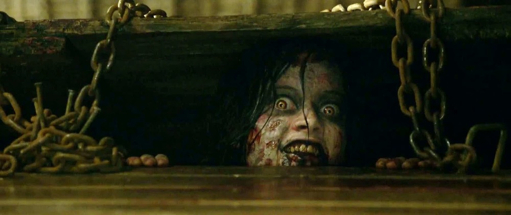 "blogspot.com   ""Evil Dead,"" the remake of Sam Raimi's horror trilogy, delivers epic amounts of bloody imagery and violence, soul-eating demons and, of course, a cursed-book."