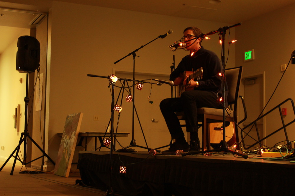 STAR // Sara Wildman   SSU Unplugged featured music and arts by students in the Cooperage on Friday.