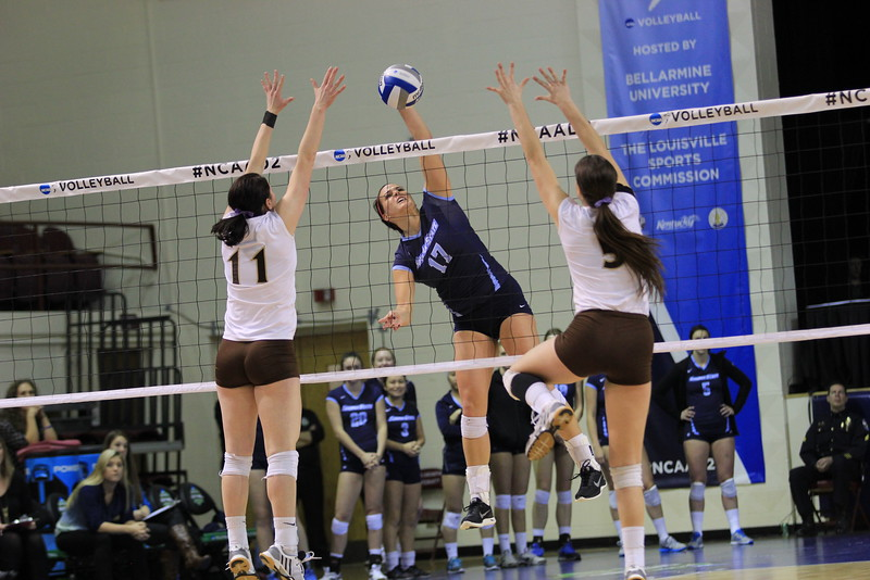 COURTESY // Tyler Lobe   Second Team All-American Kelsey Hull lead the CCAA in kills this year with 465.