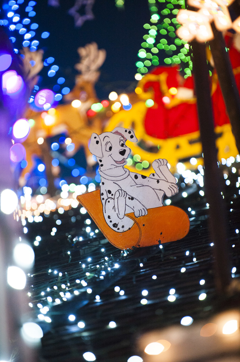 STAR // Connor Gibson Lights fill up the night sky in Rohnert Park as Weaver's Winter Wonderland attracts people across the state in celebration of the upcoming holidays. Scott Weaver has been putting Christmas decorations for more than 20 years and it takes him about five weeks to completely set up the decorations.  The ornaments represent something from his own personal life, like the coin represents sobriety and the angel represented his mother whose actual canes were used as candy cane decorations.