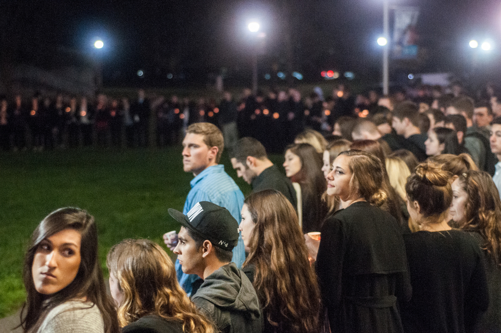 STAR // Gustavo Vasquez Student and member of Alpha Sigma Phi, Francis Lynch, passed away in his sleep on Jan. 15 of unknown causes. On Wednesday, the campus remembered him in a memorial with nearly 700 in attendance.