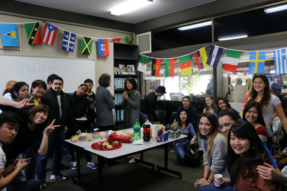 STAR // Edward Goquingco International students at Sonoma State University are welcomed back to campus with a banquet of food and beverages in International Hall.