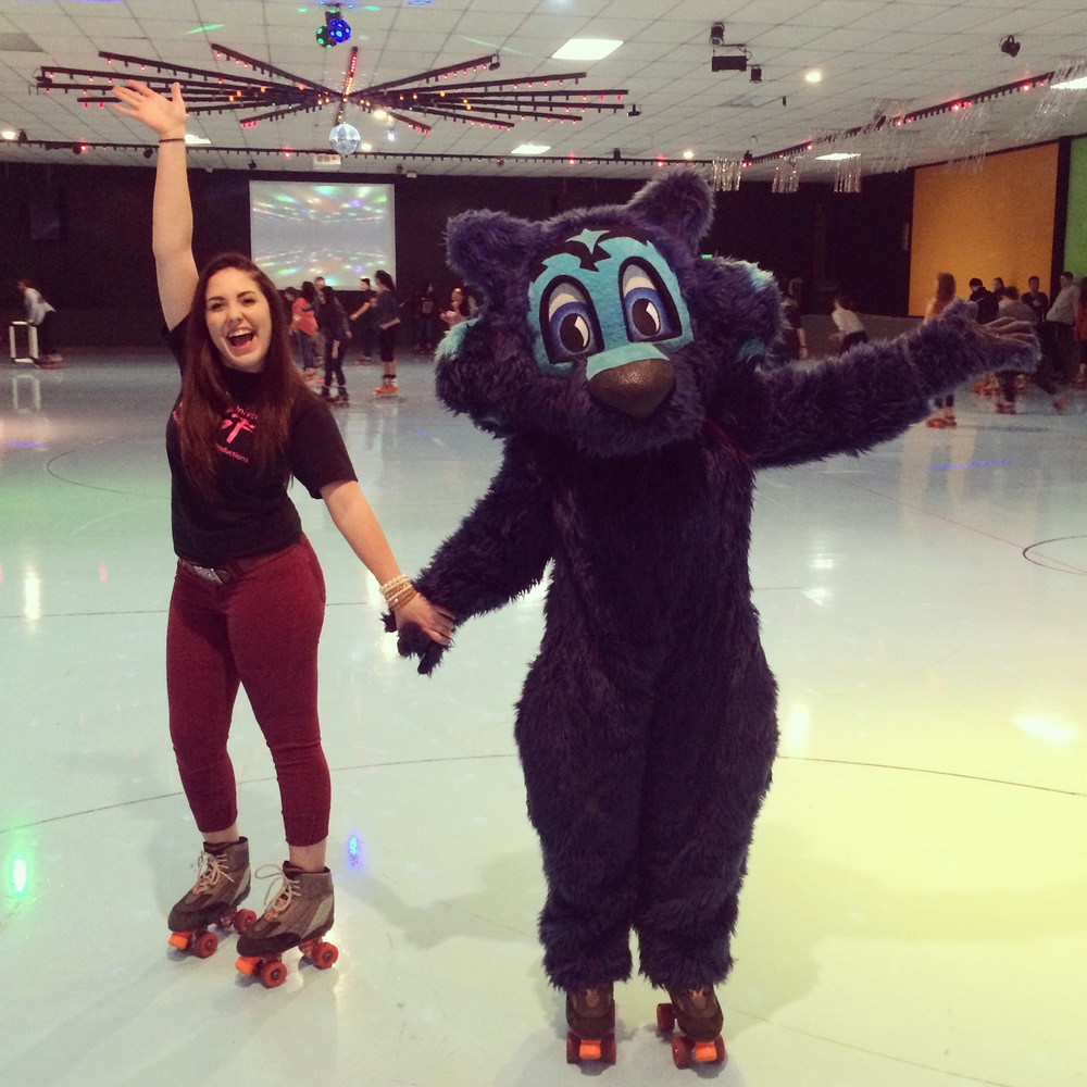 "COURTESY // Ciera Leidheisl    Ciera Leidheisl skates with Lobo during ""Skate with a Date"" on Feb. 10."