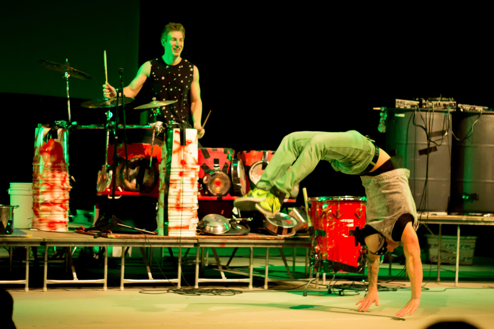 STAR //  Brennan Chin  Recycled Percussion performs at Sonoma State University's Person Theatre as the finale of Spirit Week.