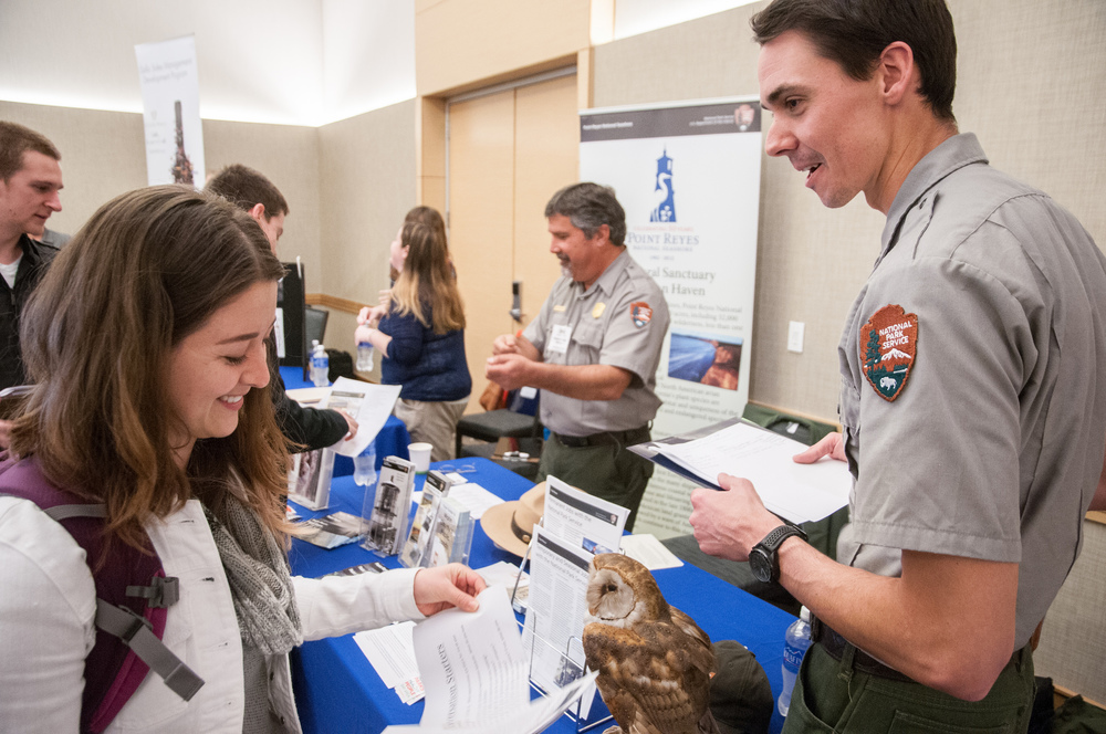 STAR // Gustavo Vasquez  More than 614 students attended the Sonoma State University 2015 Career Fair in the Student Center Ballroom on Wednesday, where they were able to network and make connections, as well as to acquire information about prospective employers.