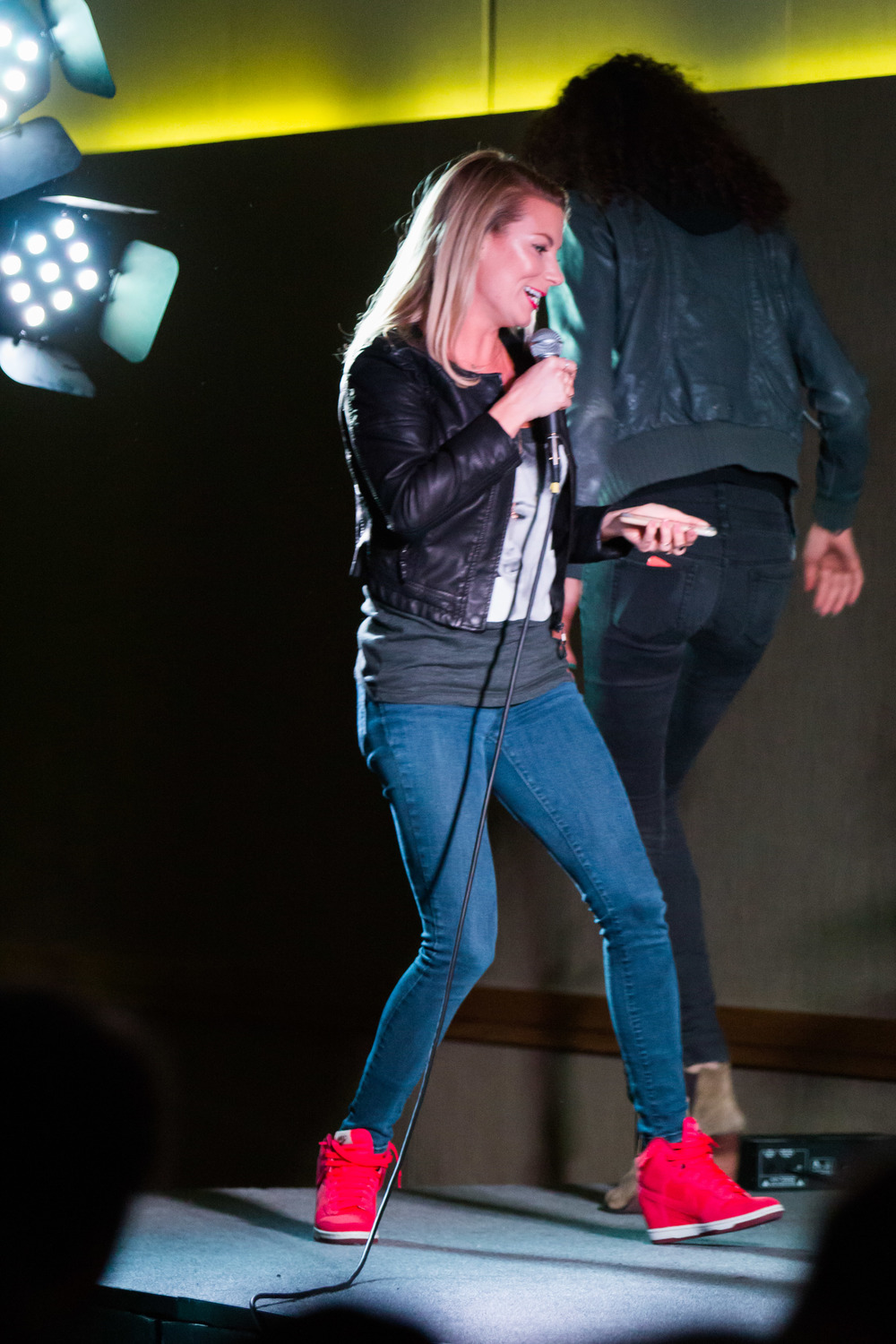 STAR // Brennan Chin Comedian Jessimae Peluso performs at the Student Center Ballroom.