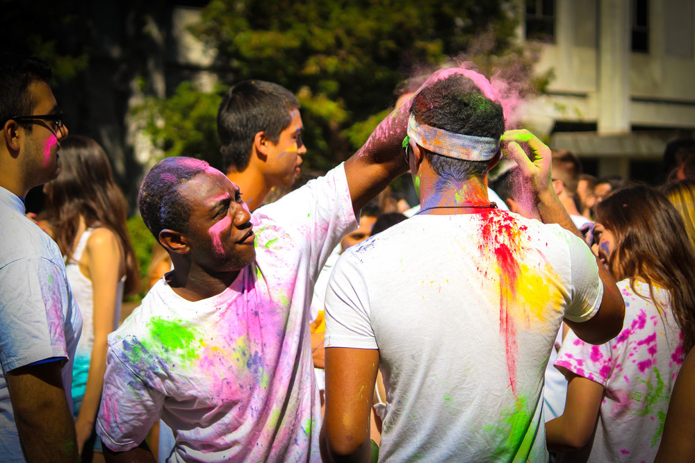 STAR // Brandon Stachnik SSU students celebrated spring at the Holi Festival.