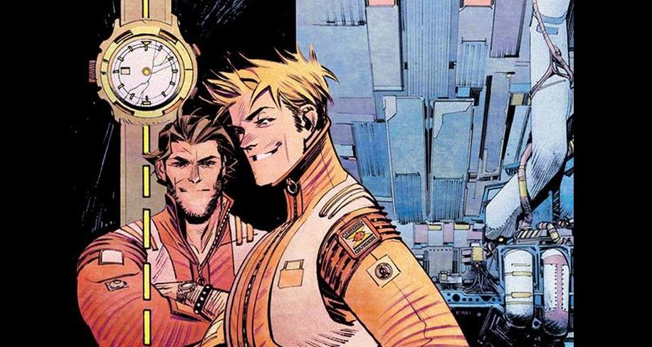"""facebook.com Mark Millar's comic book """"Chrononauts"""" features two time travelers, Corbin Quinn and Danny Reilly."""