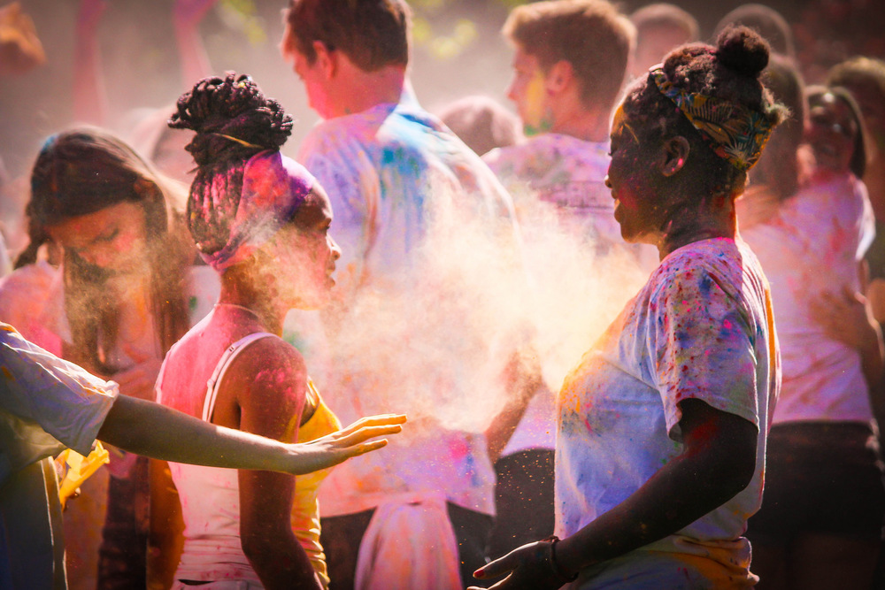 STAR // Brandon Stachnik SSU students celebrated spring at the Holi Festival.