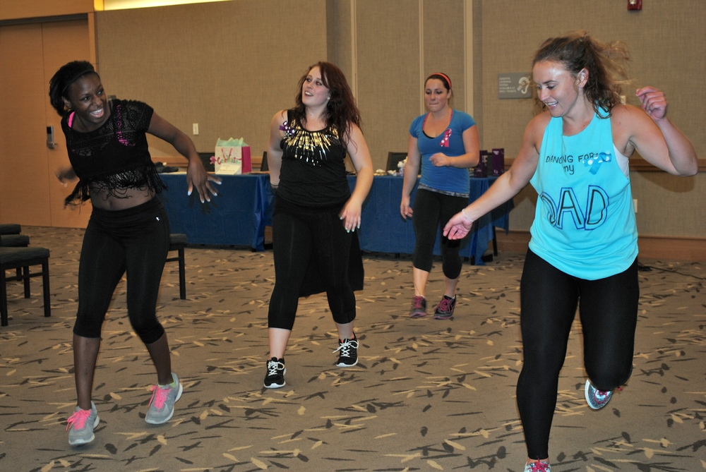 STAR // Samantha Cardenas On Saturday, InMotion zumba instructors and the Relay for Life foundation teamed together to put on Shakin' it for a Cure Zumbathon. The event helped raise money and brought awareness to cancer. About 15 people participated, taking part in two 45-minute zumba sessions and listened to speakers discuss their experiences with cancer.