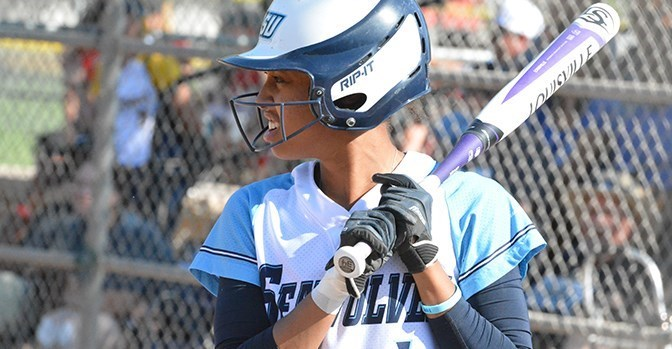 sonomaseawolves.com, STAR // Connor Gibson   Senior infielder Ancia Purdy waits for the pitch to come in.