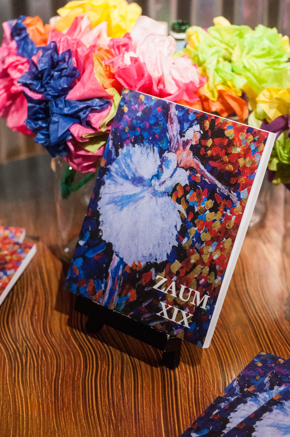 Zaum Press of Sonoma State hosted their annual gala for the second time in a row at Redwood Cafe in Cotati on Tuesday, April. 14, 2015, unveiling the newest print edition, Zaum 19 and their digital addition, Zaum XS