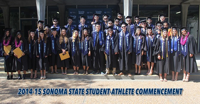 sonomaseawolves.com 290 student-athletes who make up SSU's intercollegiate athletics program combined to earn a 3.037 GPA for 2014-15 -- the highest department