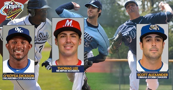 sonomaseawolves.com   Scott Alexander, O'Koyea Dickson, and Thomas Lee are nearing the big show after successfully making it to their respective Triple-A affiliate teams.