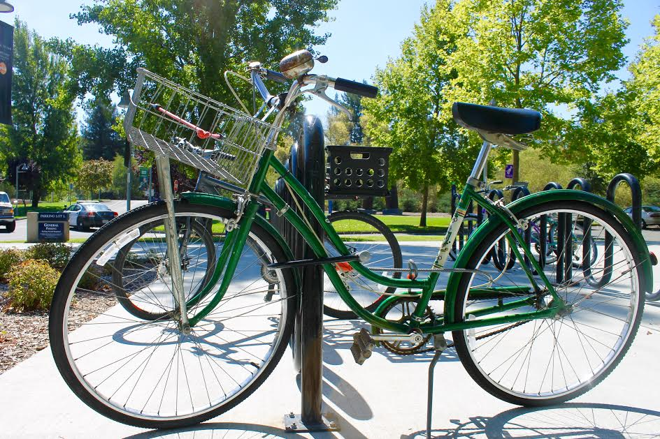 STAR // Kaila Sanders Sonoma State University student Amy Loukonen has proposed a solution to recent bike thefts.