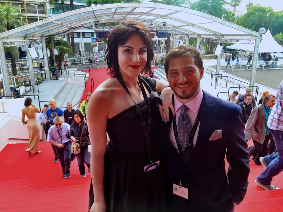 COURTESY // Mary-Madison Baldo Baldo and Bretow walk the red carpet at the Cannes Film Festival of 2015.