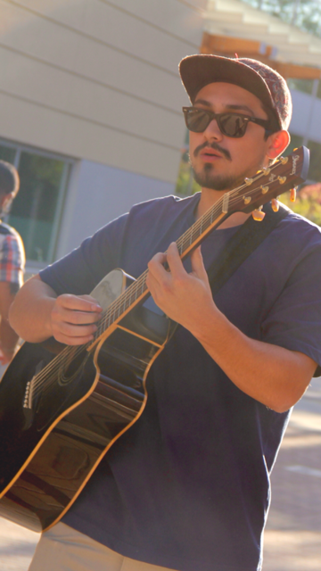 Courtesy // Gabriel Duran Sonoma State student Gabriel Duran can be seen performing on campus anywhere from Open Mic Nights to the annual CineNoma film festival.