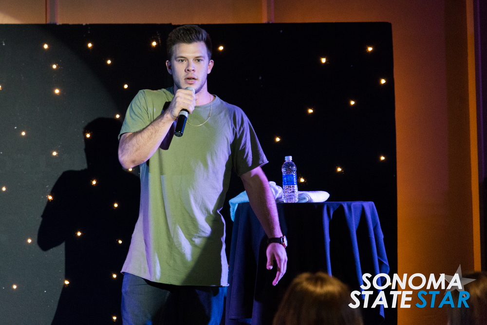 YouTube star Jimmy Tatro performed at the SOMO Village last Friday. (Brennan Chin // Sonoma State STAR)