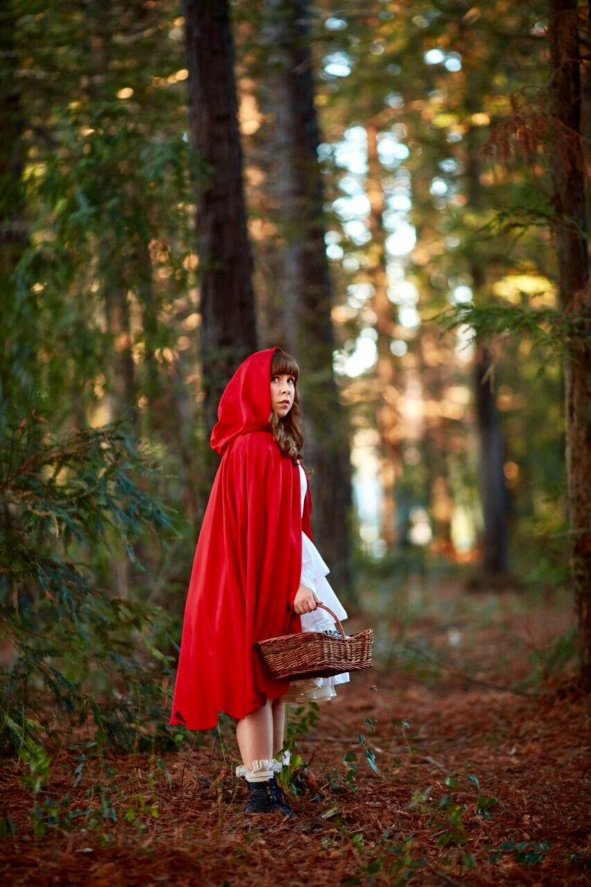 "courtesy // Emily rice  Emily Rice stars as Little red riding hood in Sonoma State university's production of ""into the woods."""