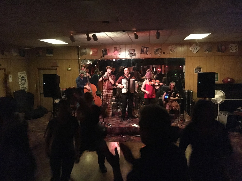 STAR // Emma Devitt  The Odd Job Ensemble performs at the Forestville Club in Forestville on Friday night.