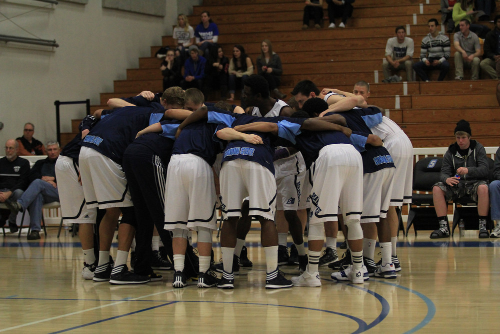 Courtesy // Tyler Lobe  The Sonoma State University Men's Basketball team.