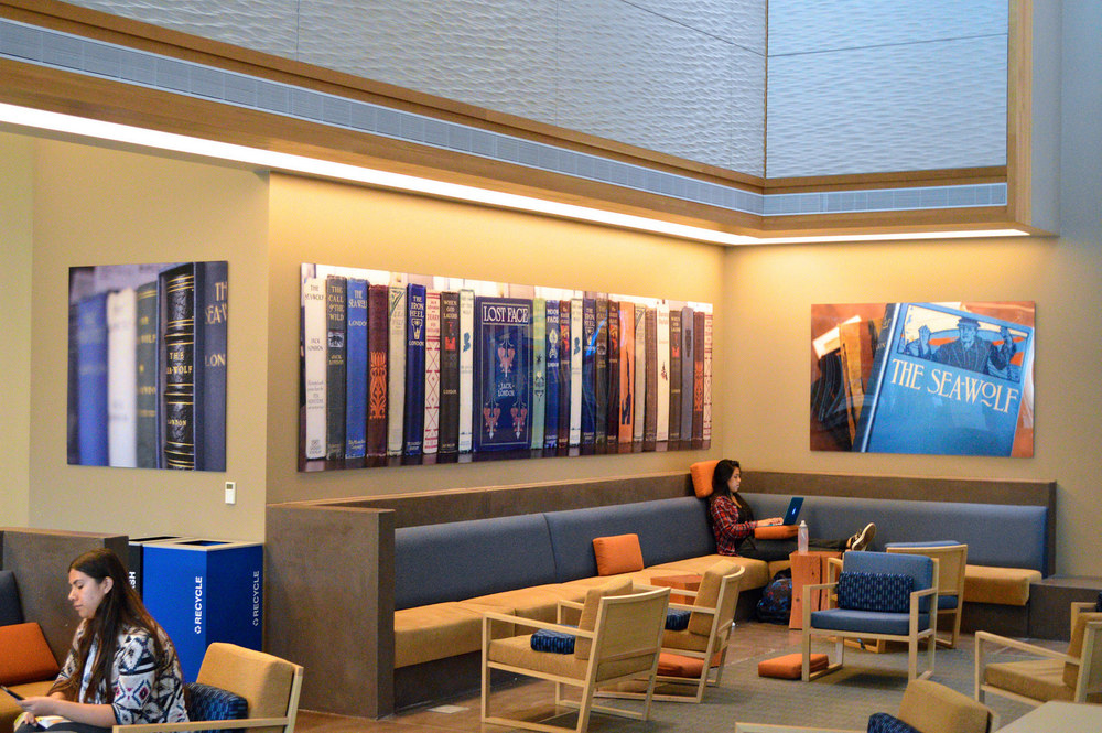 STAR // Sara Wildman  New art pieces can now be found on display in the Student Center's Living Room.