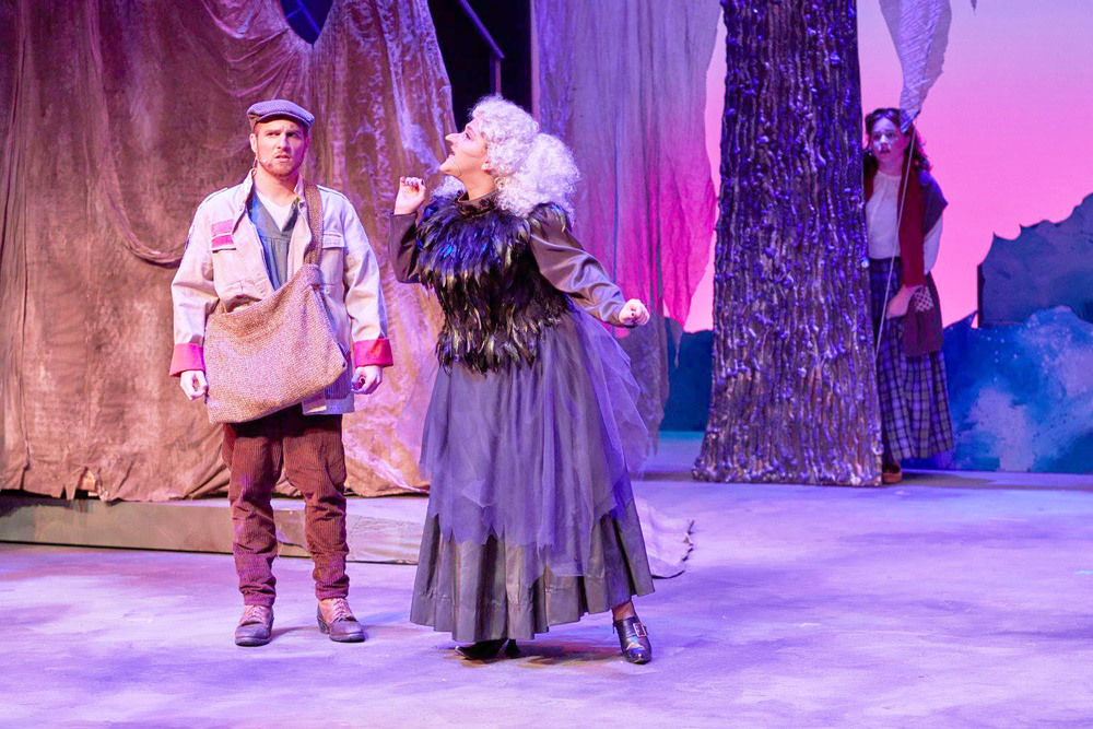 "Courtesy // Brett Mollard Actor and filmmaker Brett Mollard (left) onstage in Sonoma State University's production of ""Into the Woods."""