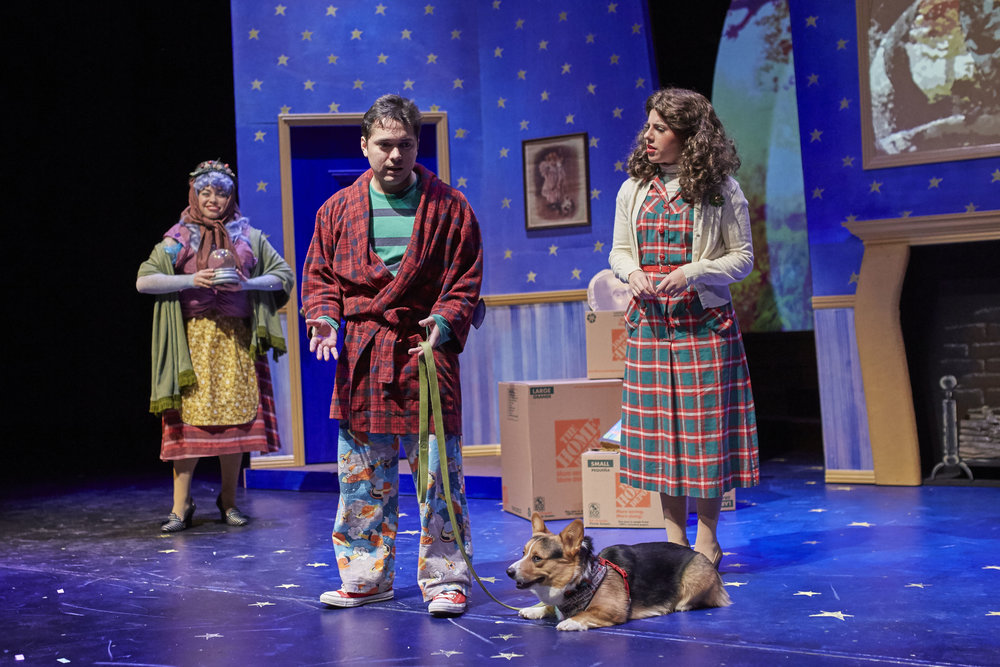 COURTESY // David Papas From left to right, Rosemarie Kingfisher as Mrs. Lune/Berylune, Carlos G. Rodriguez as Tyler and Olivia Mohr as Mum.