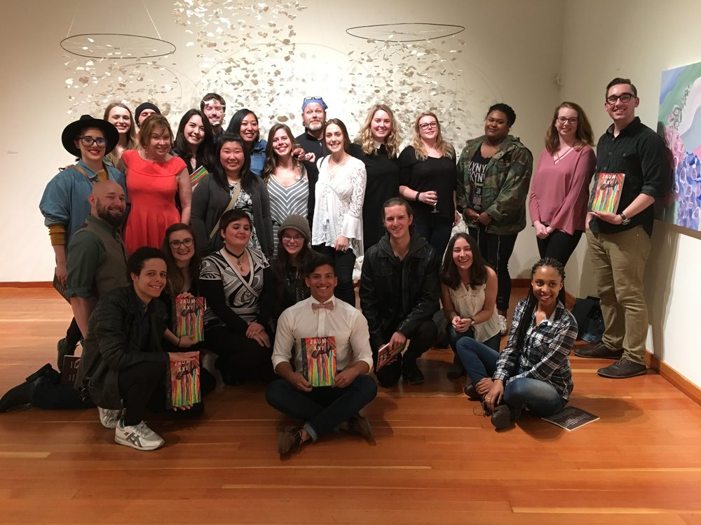 STAR // Nolan Brough  Students with work featured in the newest edition of Zaum came together for a release party on Thursday in the University Art Gallery.