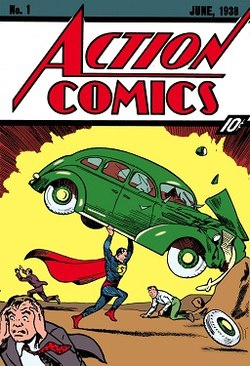 Issue 1 cover of Superman released in June of 1938.