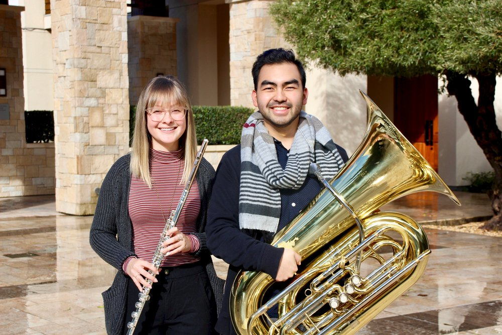 Senior Music majors Haley Sambrano and Jacob Rosales. STAR // Jacob Loher