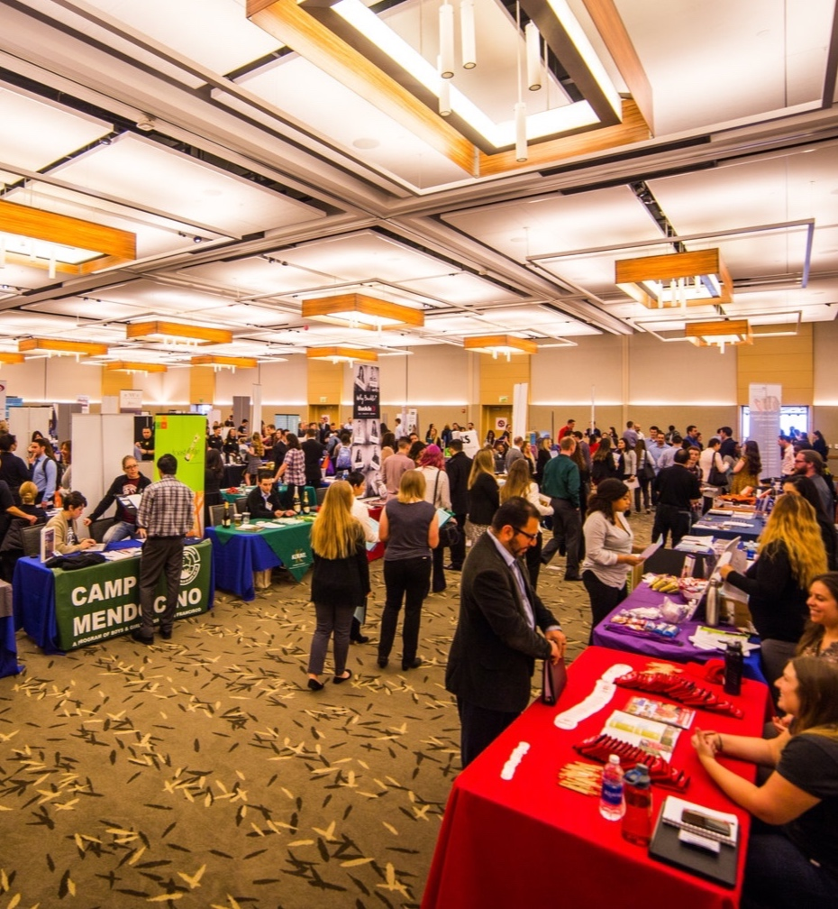 COURTESY // Sonoma State University   Students, community members and local businesses gather in the Student Center ballrooms for last year's Career Fest.