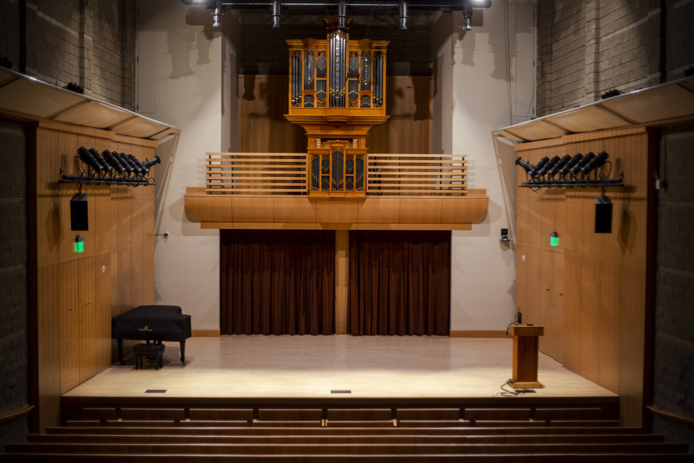 Schroeder Hall will be hosting the Concerto competition on April 7. (STAR // Brandon Sparks)