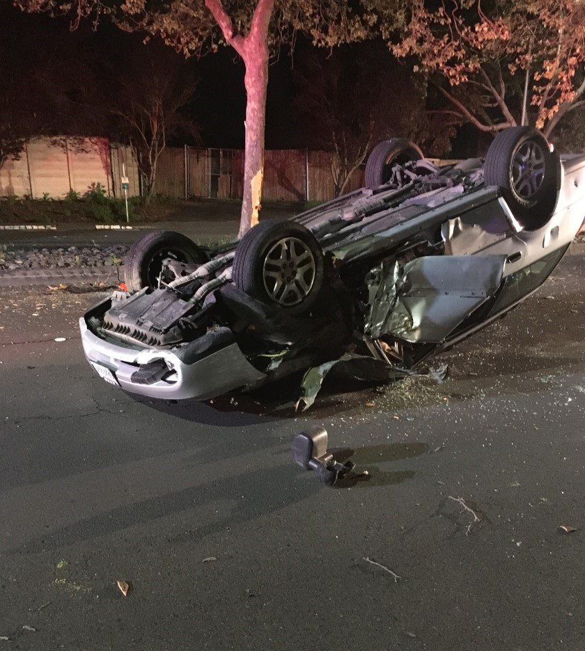 The driver of the vehicle was partially ejected from the vehicle and severely injured, although he managed to survive the crash.