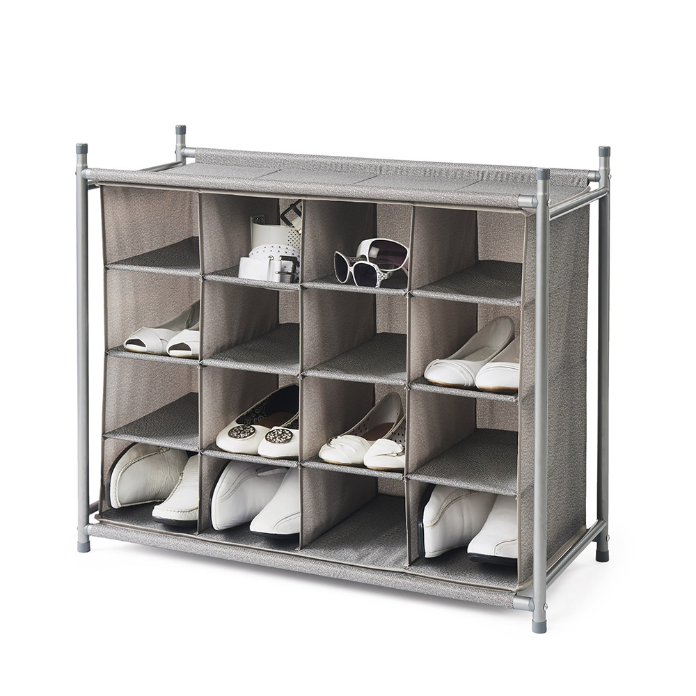 Neatfreak shoe storage and organizing units 16 cubby shoe organizer harmony twill collection - Shoe racks for small spaces collection ...