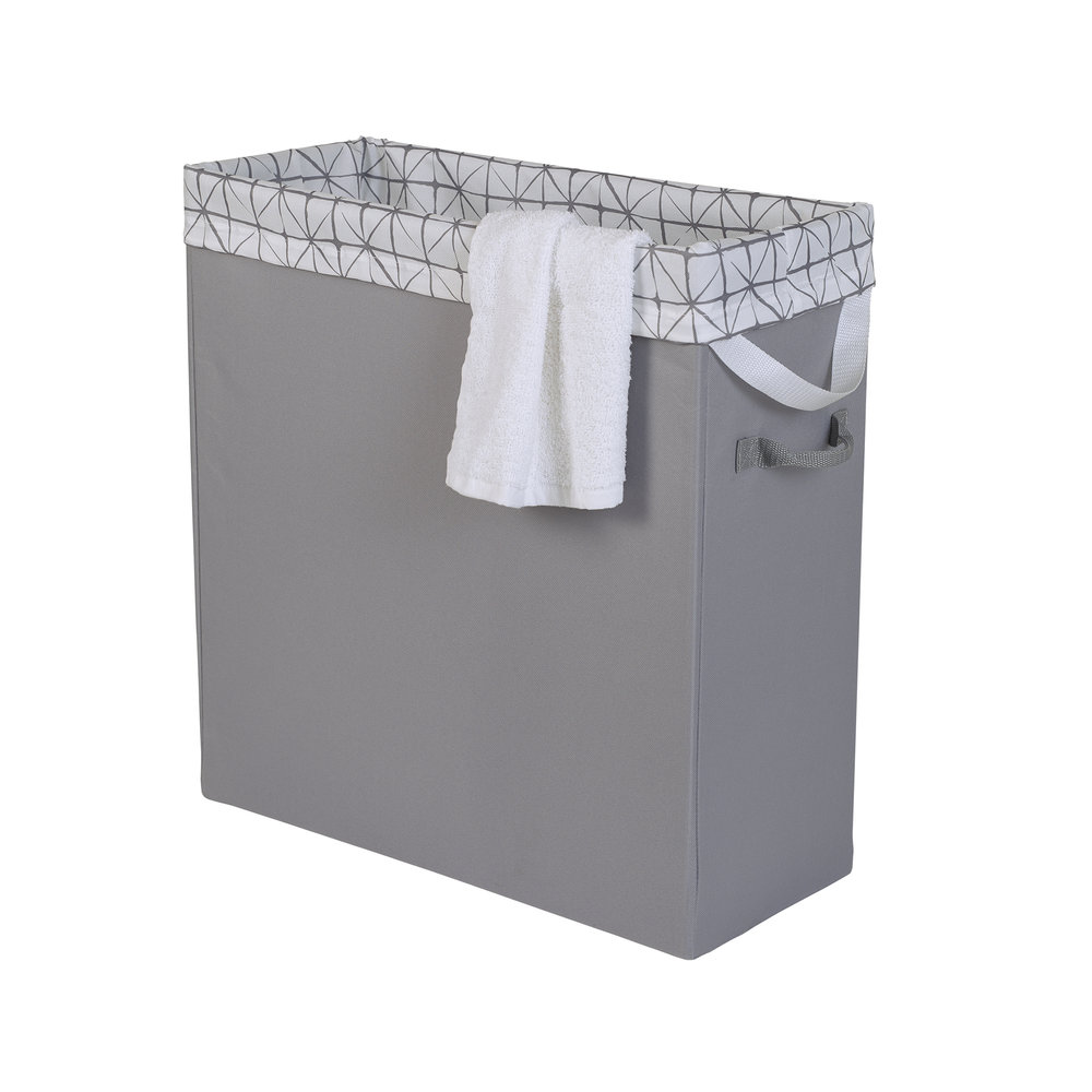 Neatfreak laundry slim space saving laundry hamper with everfresh - Narrow clothes hamper ...